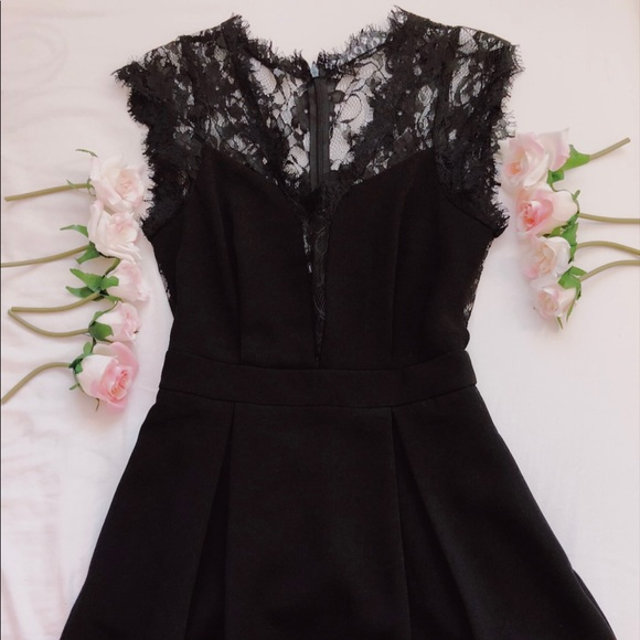 Bcbg Dresses Black Lace Dress Boho Poshmark